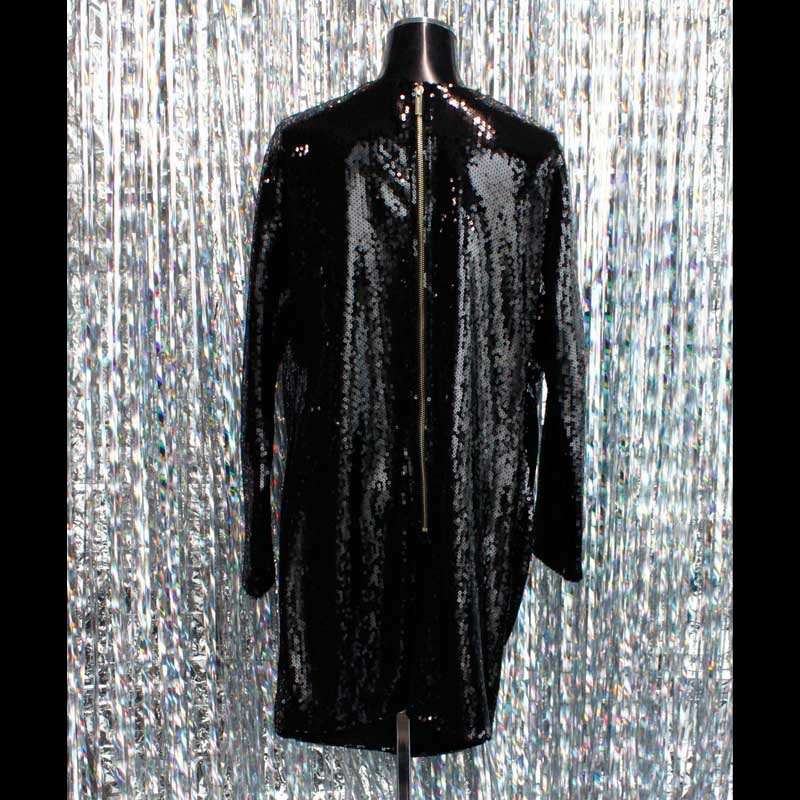 【PREGA】スパンコール ブラックドレス