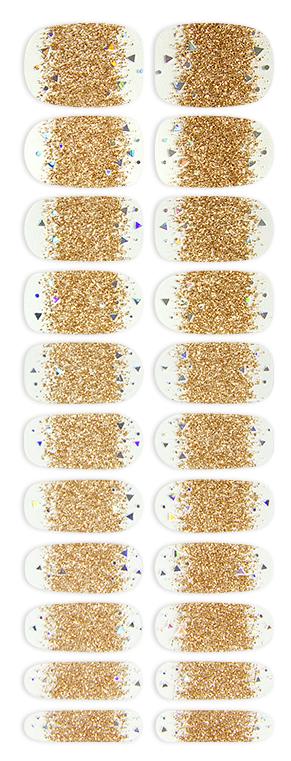 【おこもり美容】ネイルスネイル【No.094 ゴールドラメグラデー】