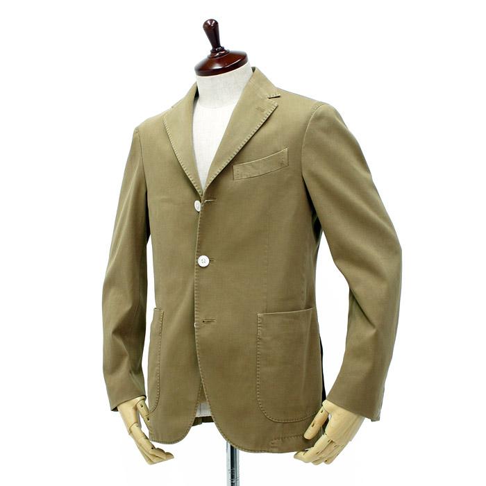 ボリオリ(BOGLIOLI)<br>ストレッチコットン シングルジャケット COAT<br>222-52722-321 R3302G ベージュ 30%OFF!!