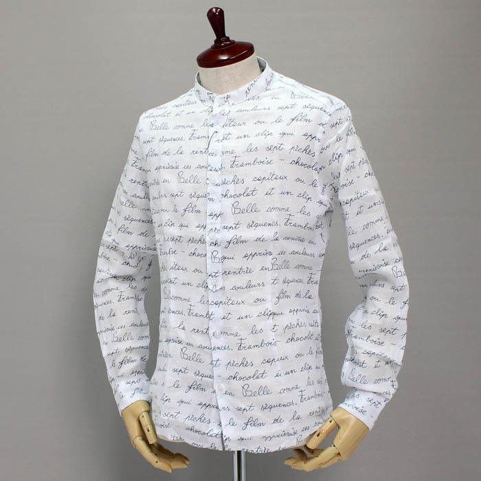 ダニエレ アレッサンドリーニ<br>(DANIELE ALESSANDRINI)<br>リネンスタンドカラーシャツ<br>CAMICIA RIANDOLO<br>211-24859001<br>Col.105<br>送料無料
