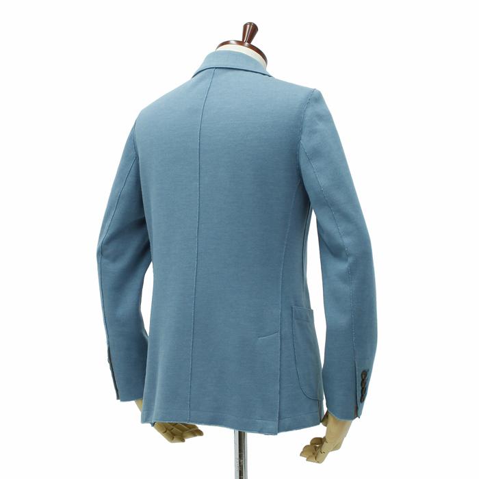 イレブンティ(ELEVENTY)<br>2Bジャケット ジャージー素材<br>NZ/JA3087 JAC17004 Col.2 サックスブルー