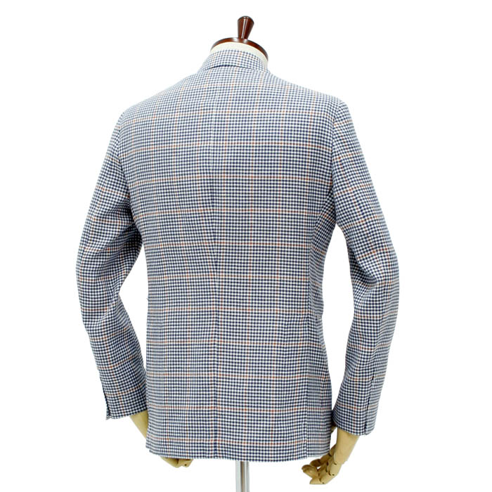 デ・ペトリロ(De Petrillo)<br>コットン/リネン シングルジャケット<br>604/439<br>送料無料