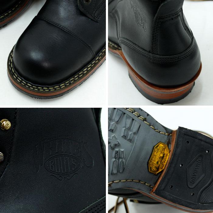 ホワイツブーツ (WHITE'S BOOTS)<br>ハンドメイド セミドレス キャップトゥ<br>レザーブーツ<br>350M ブラックドレス(Made in USA)