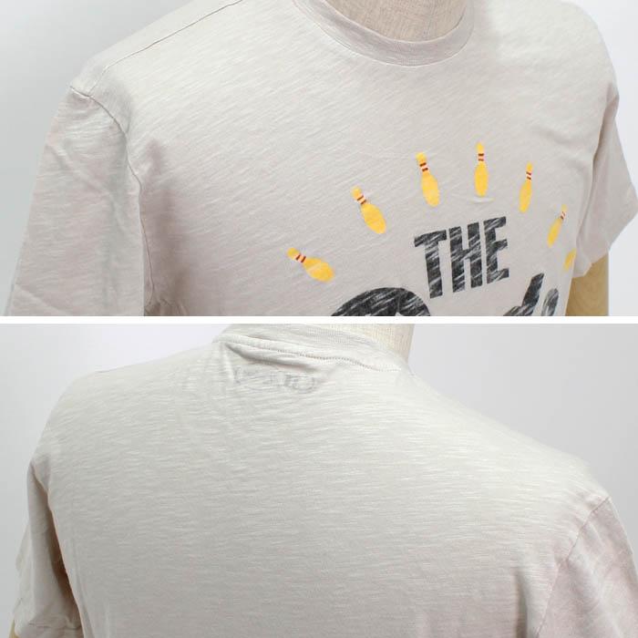 ヴィンテージ55(Vintage55)<br>プリントTシャツ<br>UVI-6538021<br>Col.482 ベージュ系