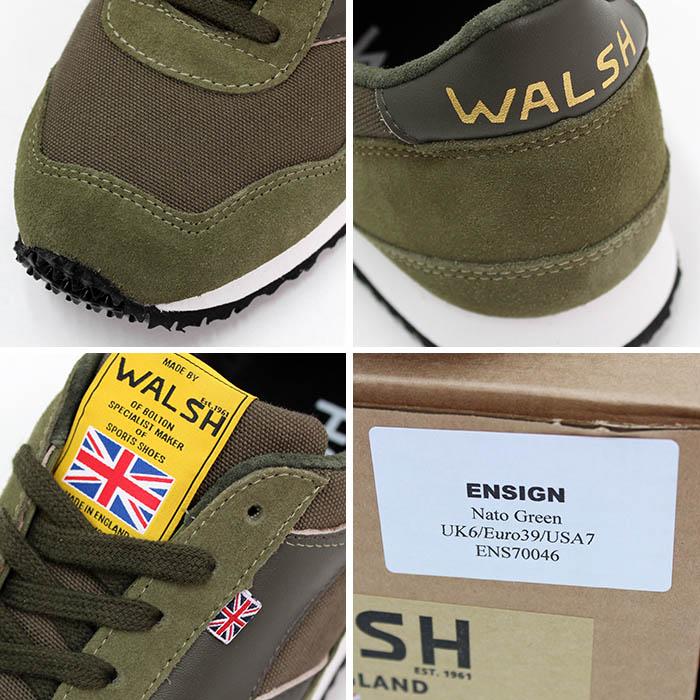 ウォルシュ(WALSH)<br>スニーカー<br>ENSIGN<br>ENS40046<br>Nato Green<br>送料無料