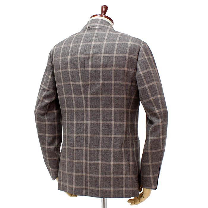 リングヂャケット(RING JACKET)<br>3B ウール/シルク シングルジャケット<br>No.269F RT057S30F<br>ライトブラウン ウィンドペン<br>送料無料
