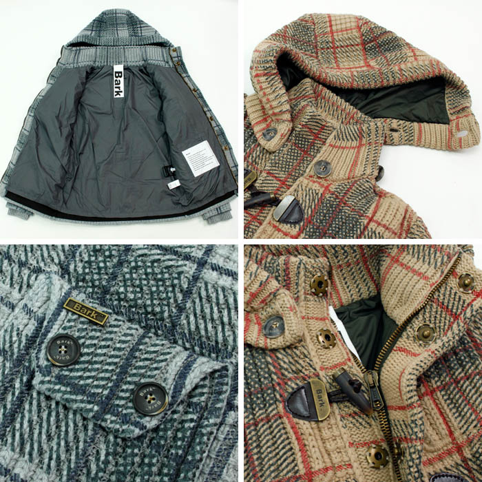 60%OFF!!<br>バーク(BARK)<br>ニットダッフルコート<br>52B8015<br>474-10401001<br>送料無料