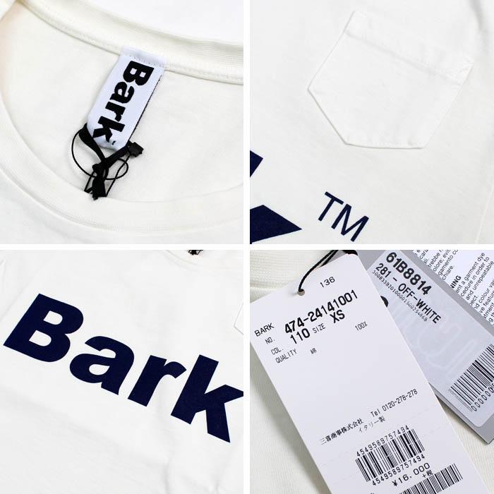 バーク(BARK)<br>ロゴプリントTシャツ<br>61B8814<br>474-24141001