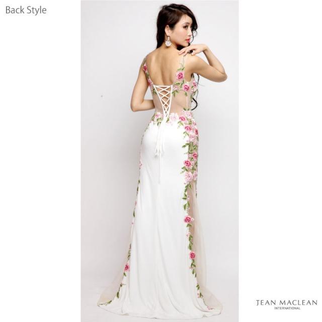 【IRMA】フラワーレースサイドシアースリットロングドレス