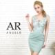 【Angel R】フラワーレースサイドシアータイトミニドレス