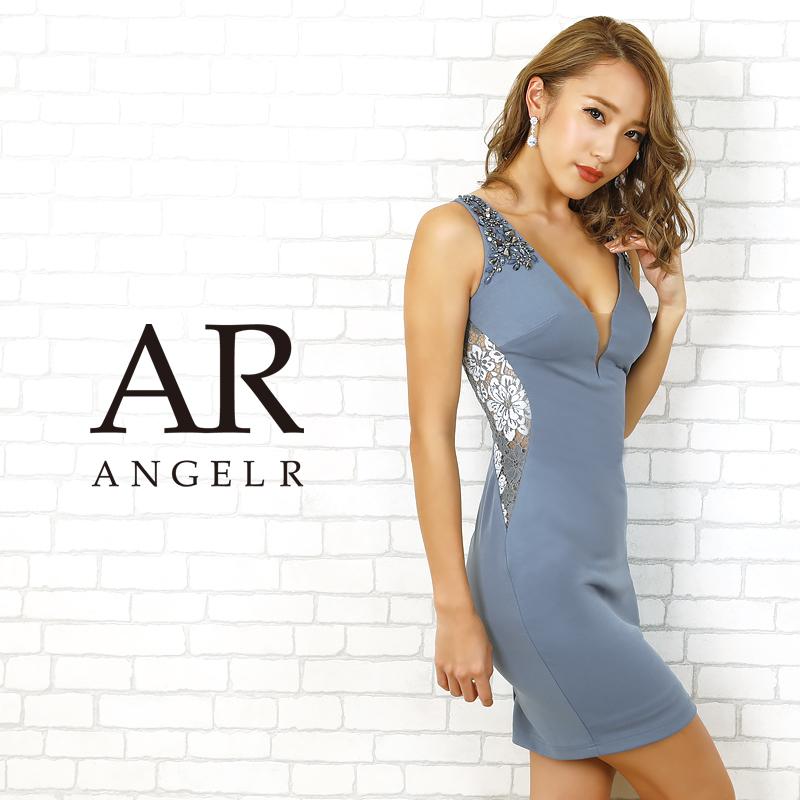 【Angel R】サイドシアーフラワーレースタイトミニドレス