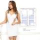 【8月中旬入荷予定】【Angel R】ショルダービジューサイド&スカートシアータイトミニドレス