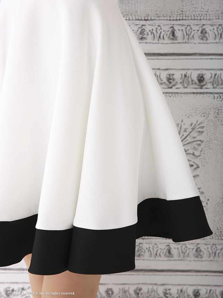 【an】フラワーレースフレアミニドレス