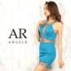 【Angel R】シアー&ビジューデザインタイトミニドレス