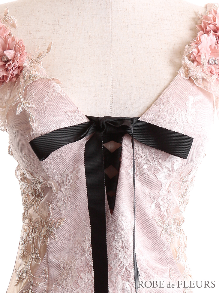 【ROBE de FLEURS】Lily flower bouquet dress
