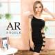 【Angel R】アシンメトリービジュー&レースデザインワンショルダータイトミニドレス