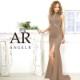 【Angel R】カッティングデザインビジュータイトロングドレス