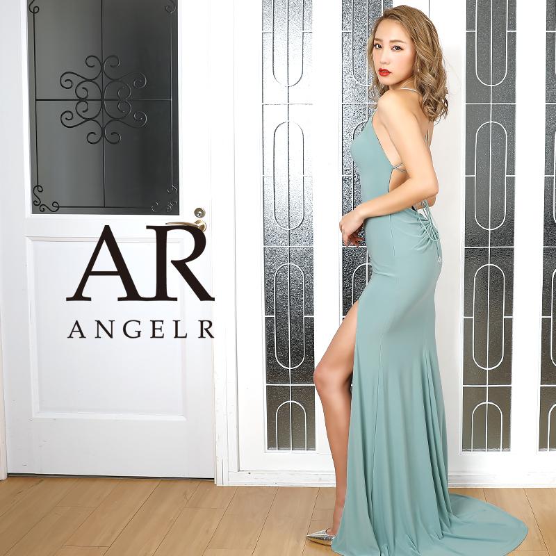 【Angel R】バストビジュースリットタイトロングドレス