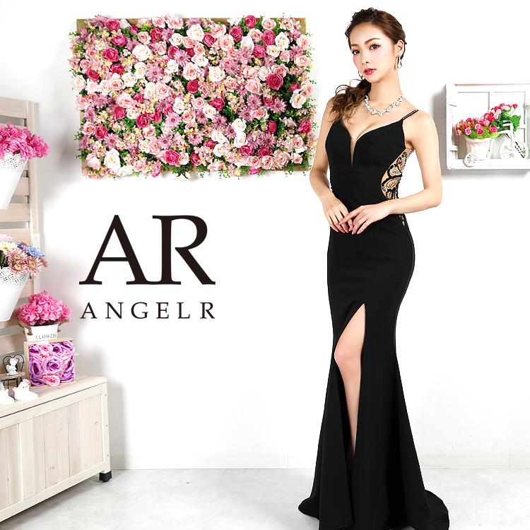 【Angel R】バックビジューデザインタイトロングドレス