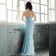 【IRMA】ラメニットスリットロングドレス