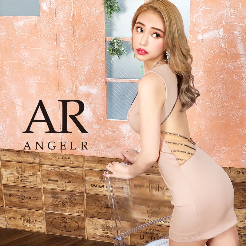 【Angel R】ラインビジューデザインタイトミニドレス