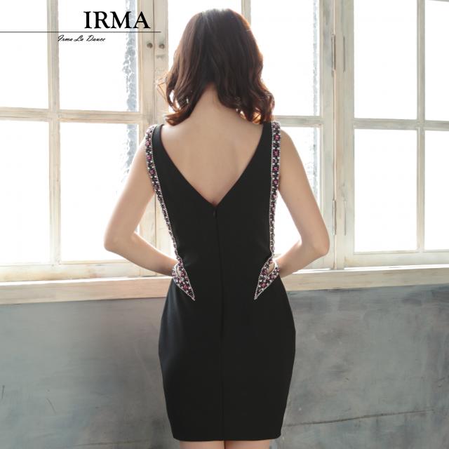 【IRMA】サイドシアービジュータイトミニドレス