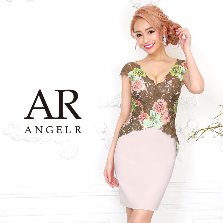 【Angel R】シースルーカラーレースタイトミニドレス