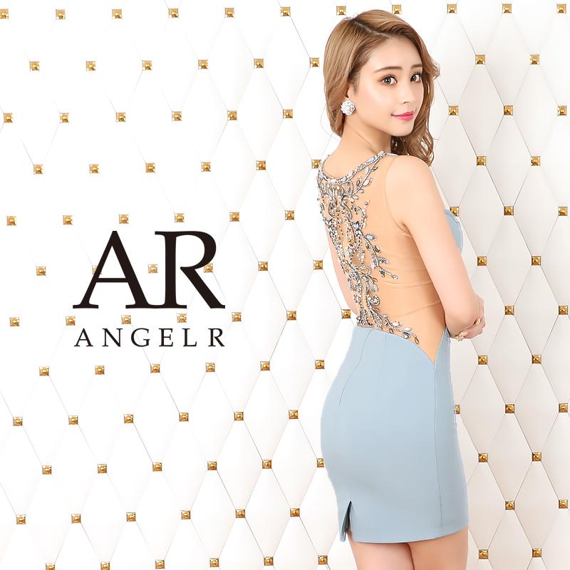 【Angel R】バックビジューVネックタイトミニドレス