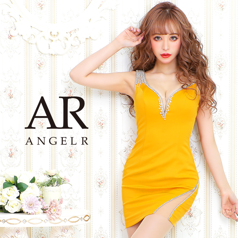 【Angel R】アシンメトリービジューショルダータイトミニドレス
