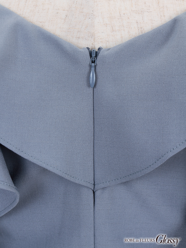【ROBE de FLEURS Glossy】ブラックレース切替×ストレッチタイトミニドレス