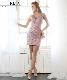 【IRMA】シアーレース刺繍タイトミニドレス