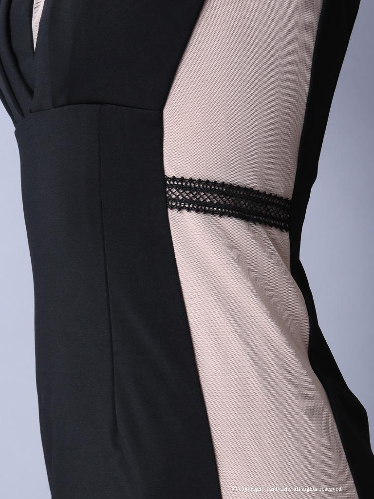 【Andy GLAMOROUS】チョーカー風ネックバックリボンタイトミニドレス