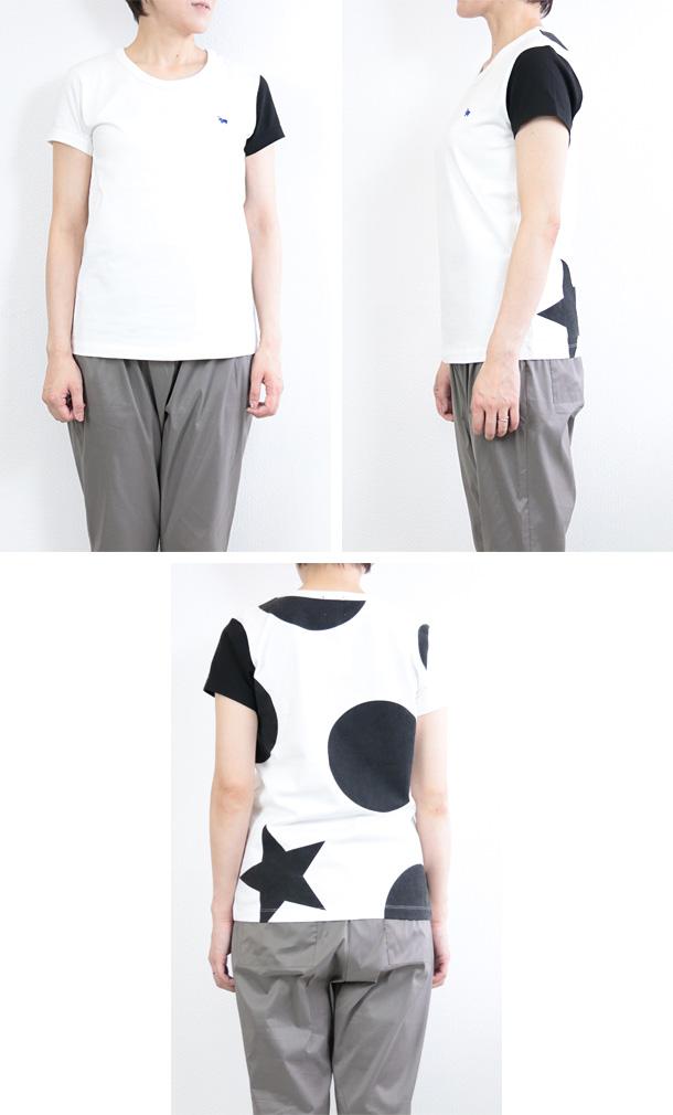 バックプリントにBigドットがポイントのTシャツ<br><br>【SALE 30%OFF】 <br>【 s&nd 】 セカンド<br>バッグ プリント Big ドット Tシャツ 大きいサイズ ユニセックス 半袖 レディース <br><br>春 夏 秋 レディース メンズ ファッション 【返品不可】 ( 190212 )