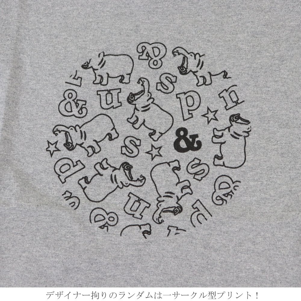 s&ndのアイコンカバくんのサークル型プリントのTシャツ<br><br>【SALE 30%OFF】 <br>セカンド s&nd<br>ロゴ サークル プリント Tシャツ 大きいサイズ ユニセックス 半袖 レディース<br><br>春 夏 秋 20代 30代 40代 レディース メンズ<br>【返品不可】 ( sd-190214 )