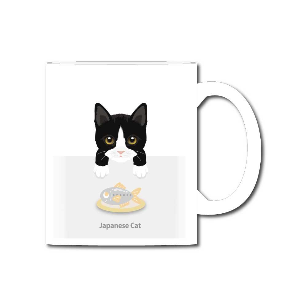 猫と魚【ジャパニーズキャット】11オンスマグカップ
