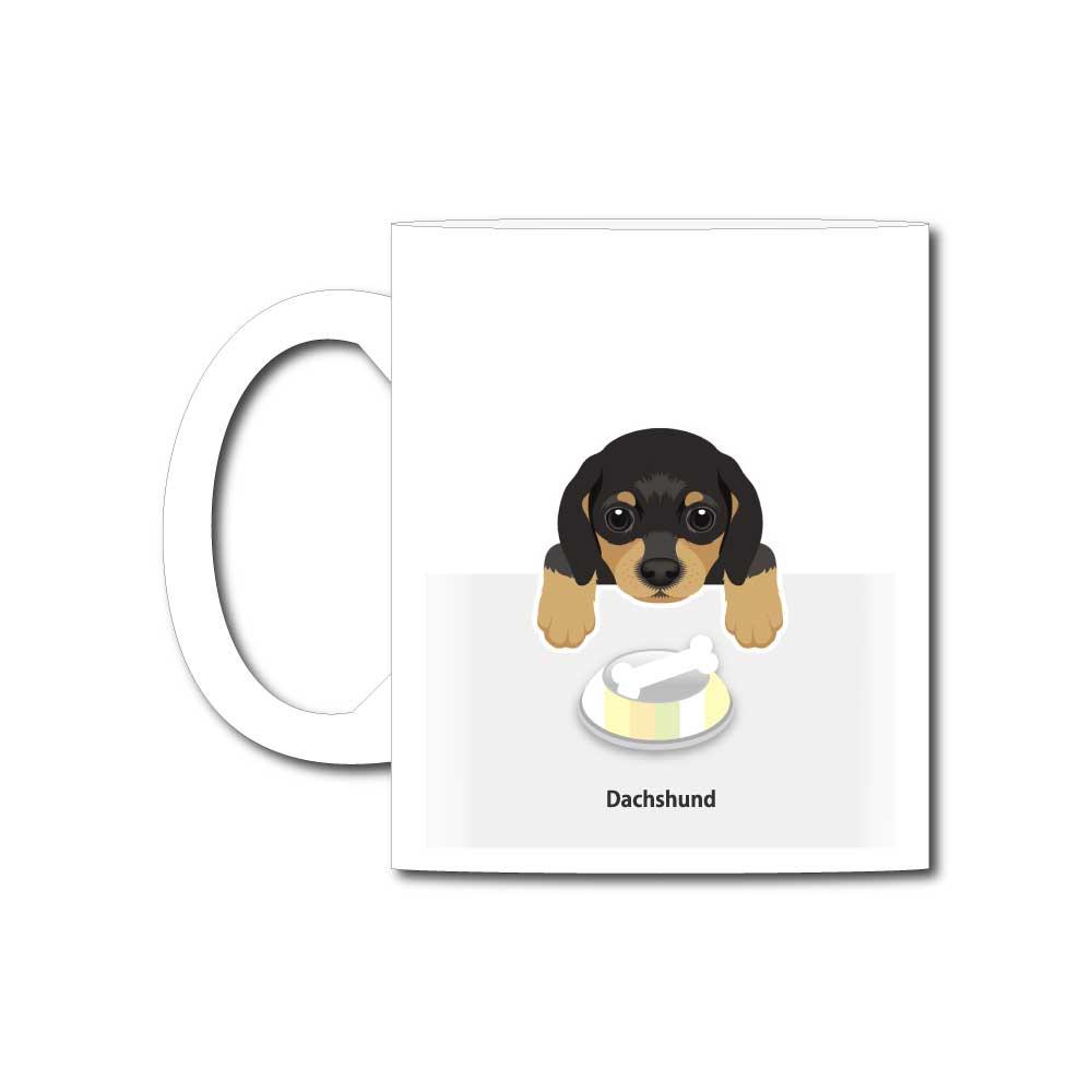 犬と骨【ダックスフンド】11オンスマグカップ