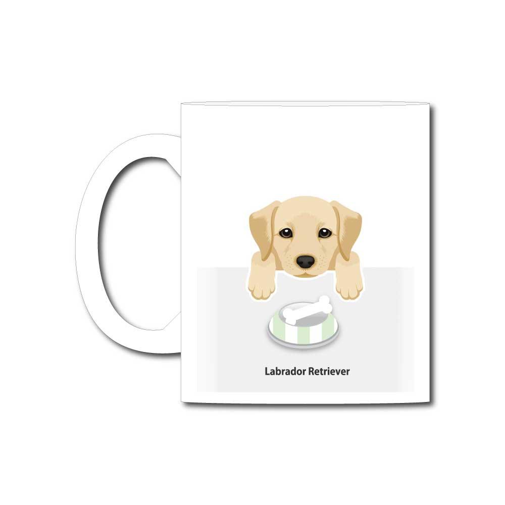 犬と骨【ラブラドールレトリバー】11オンスマグカップ