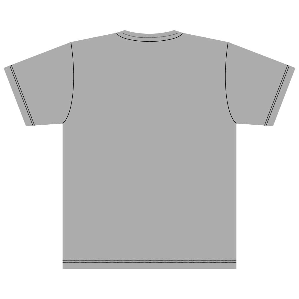 犬と骨【キャバリアキングチャールズスパニエル】5.6オンス 綿Tシャツ ミックスグレー