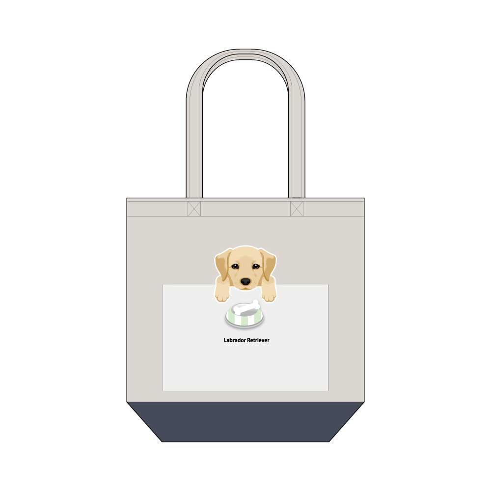 犬と骨【ラブラドールレトリバー】キャンバストートバッグ Mサイズ