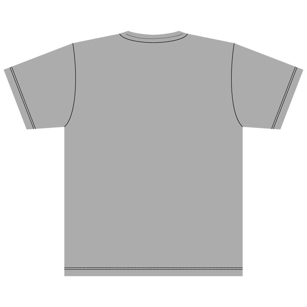 猫と魚【ロシアンブルー】5.6オンス 綿Tシャツ ミックスグレー