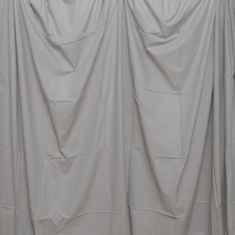 単色モズリン布バック【グレー】(2.8×6m/シームレス/ 継ぎ目無し、袋縫い加工済み)BCP-104