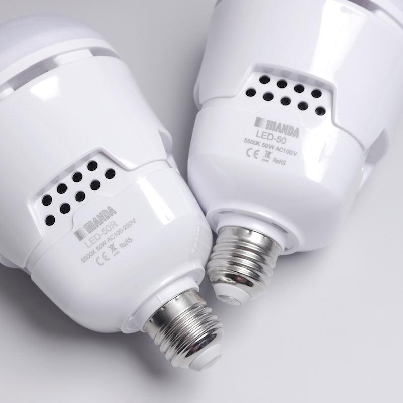 スマホアプリ調光タイプ_大光量 冷却ファン内蔵 50wデイライトLED電球 LED-50R