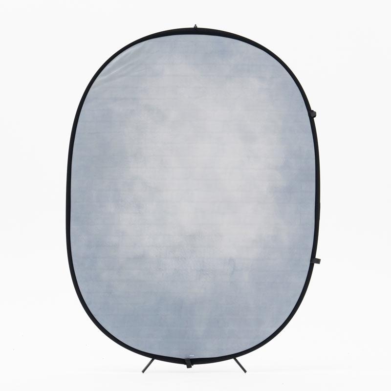 リバーシブル折り畳み背景1.5×2m 白煉瓦調×グレー系ムラ