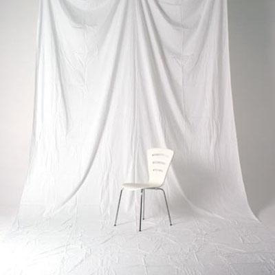 単色モズリン布バック 【白】 (2.7x6m/シームレス/ 継ぎ目無し、袋縫い加工済み)BCP-101