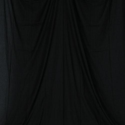 単色モズリン布バック【ブラック】(2.8×6m/シームレス/ 継ぎ目無し、袋縫い加工済み)BCP-103