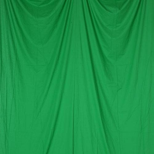 単色モズリン布バック【グリーン】(2.8×6m/シームレス/ 継ぎ目無し、袋縫い加工済み)BCP-105