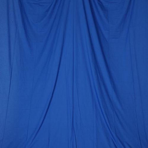 単色モズリン布バック【ブルー】(2.8×6m/シームレス/ 継ぎ目無し、袋縫い加工済み)BCP-106