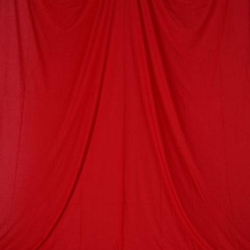 単色モズリン布バック【レッド】(2.8×6m/シームレス/ 継ぎ目無し、袋縫い加工済み)BCP-107
