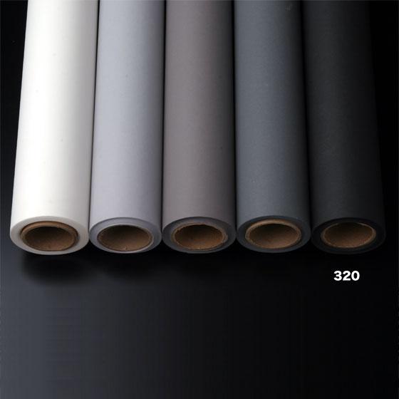 撮影用背景紙 1.36×11mロールバック紙   (320 スーパーブラック(黒色)/巻芯・梱包付)