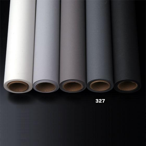 撮影用背景紙 1.36×11mロールバック紙   (327 サンダーグレイ(グレー/灰色)/巻芯・梱包付)